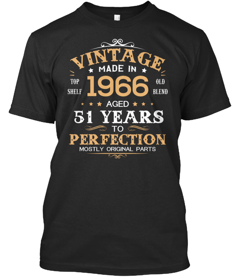 Vintage Made In 1966 Aged 51 Years Tee
