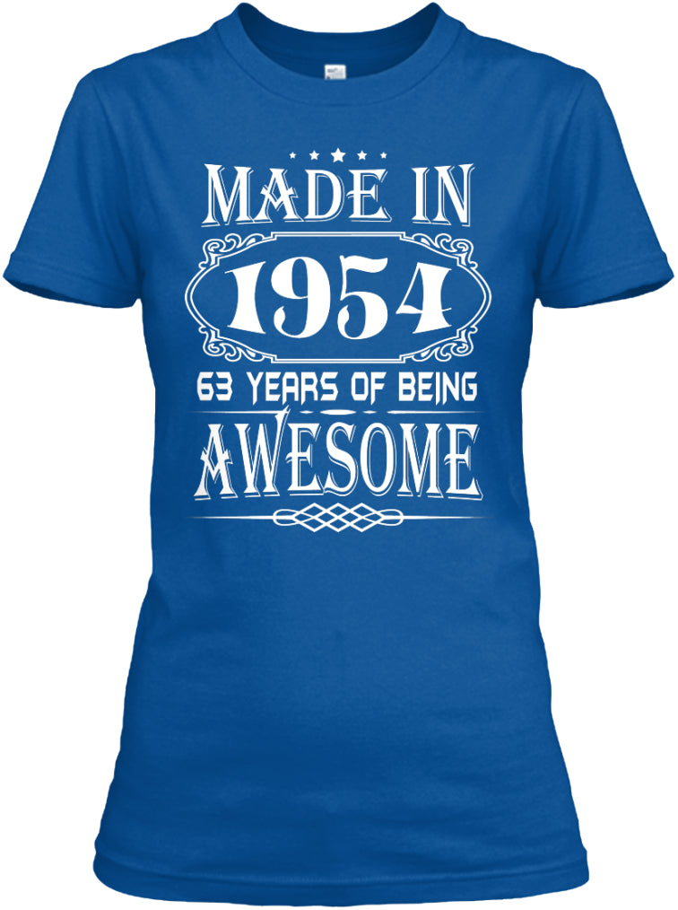 MADE IN 1954 - 63th BIRTHDAY