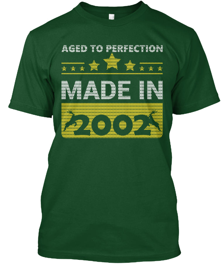 Aged To Perfection Born In 2002 Birthday Gift T-Shirts