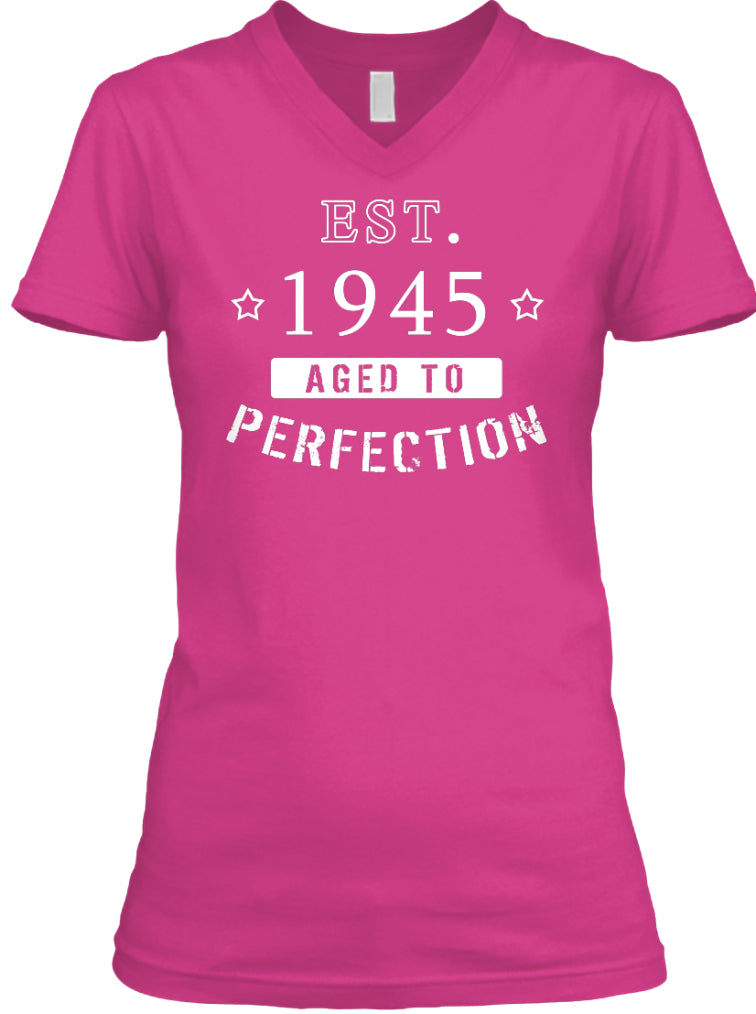 Born in 1945 Shirt - Birthday Year 1945