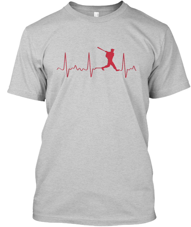 Baseball Batter Heartbeat Shirt