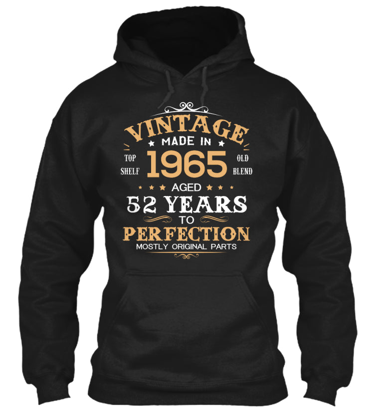 Vintage Made In 1965 Aged 52 Years Tee