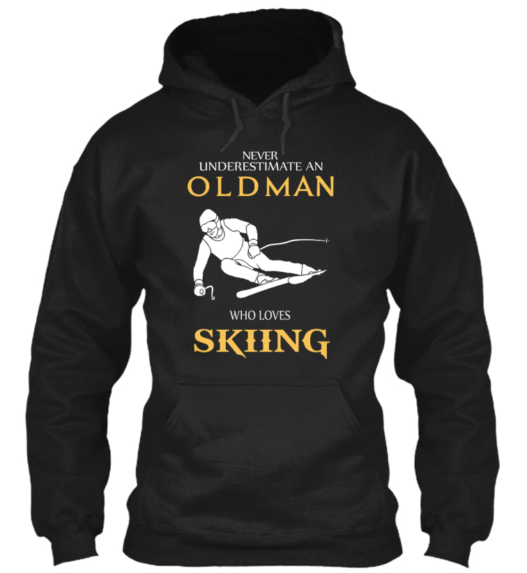 An old man who loves skiing