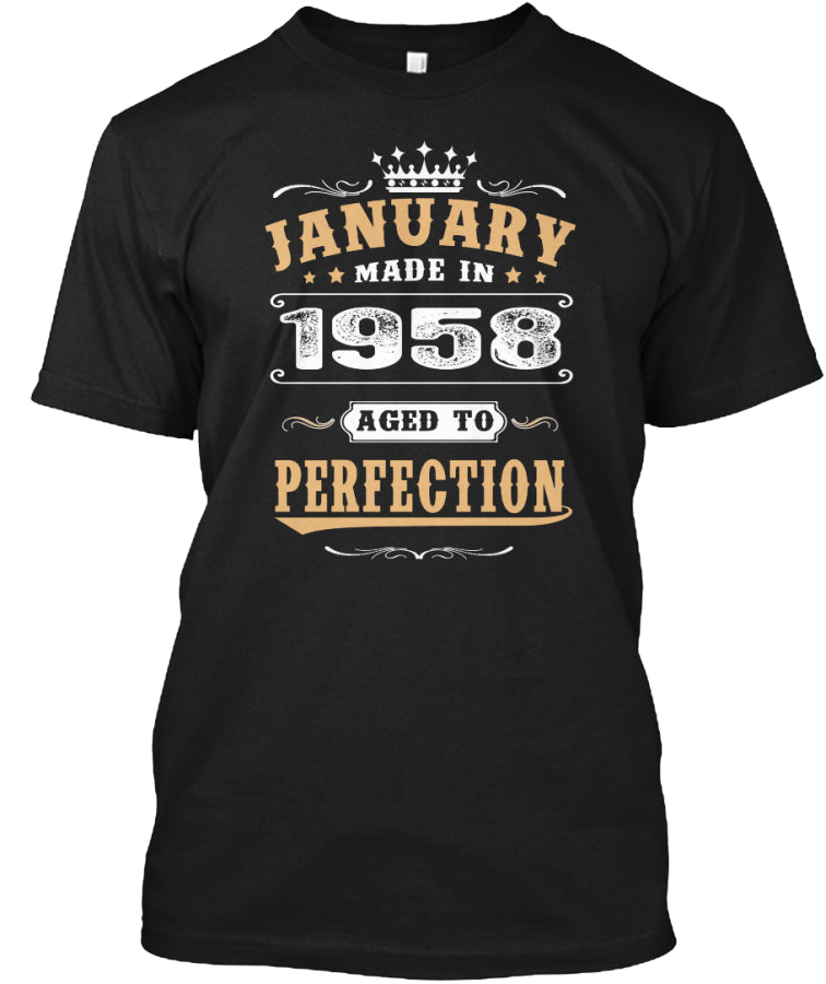 1958 January Aged to Perfection