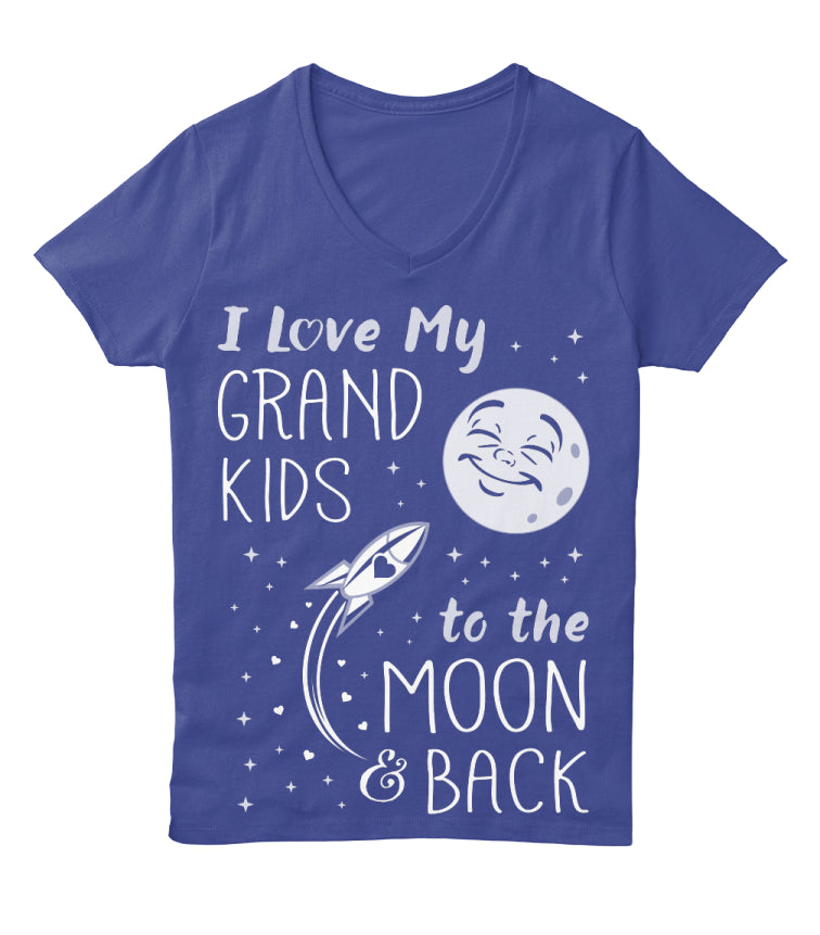 I Love My GrandKids to the Moon  Back