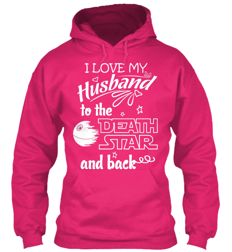 I Love My Husband Death Star T-shirt