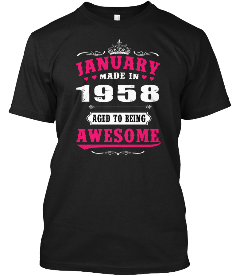1958 January age to being awesome