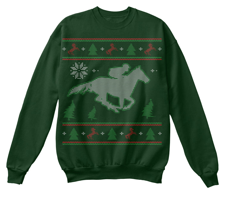 Horse Racing - Ugly Christmas Design