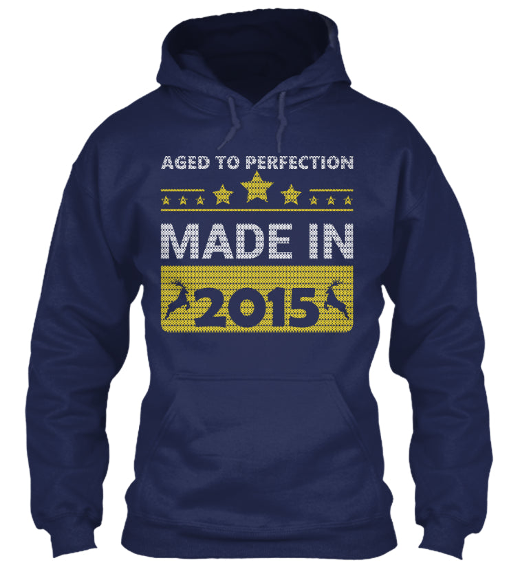 Aged To Perfection Born In 2015 Birthday Gift T-Shirts