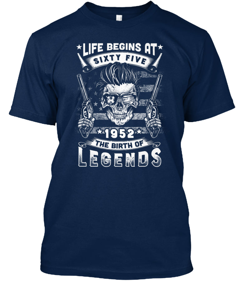 Life Begins At 65 1952 T-Shirt