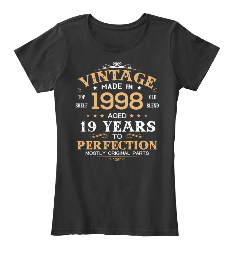 Vintage Made In 1998 Aged 19 Years Tee