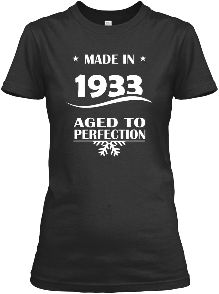 Born In 1933 - Aged To Perfection T-Shirt