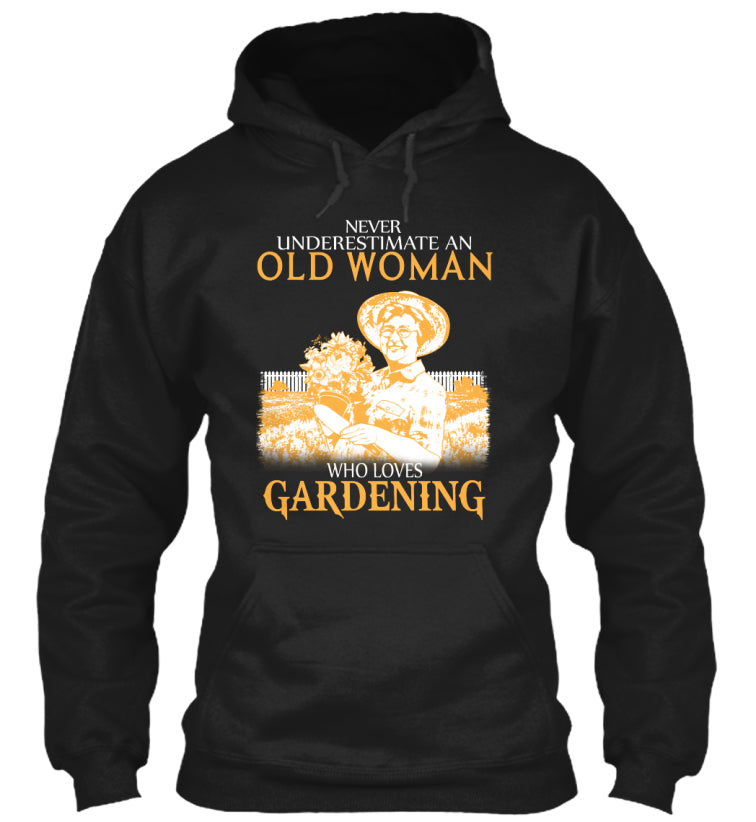OLD WOMAN WHO LOVES GARDENING
