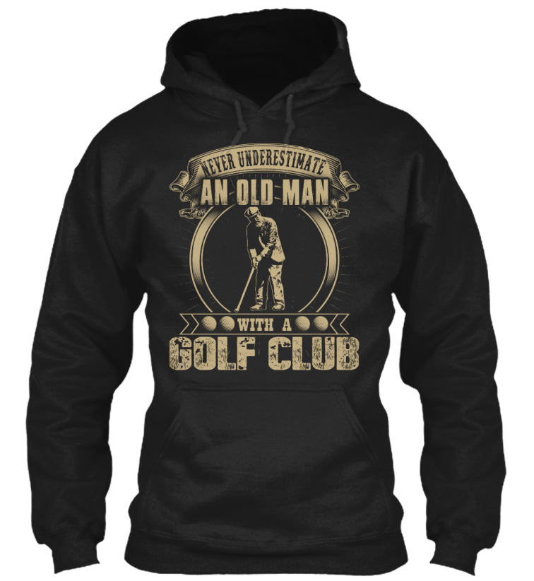 An Old Man With A Golf Club