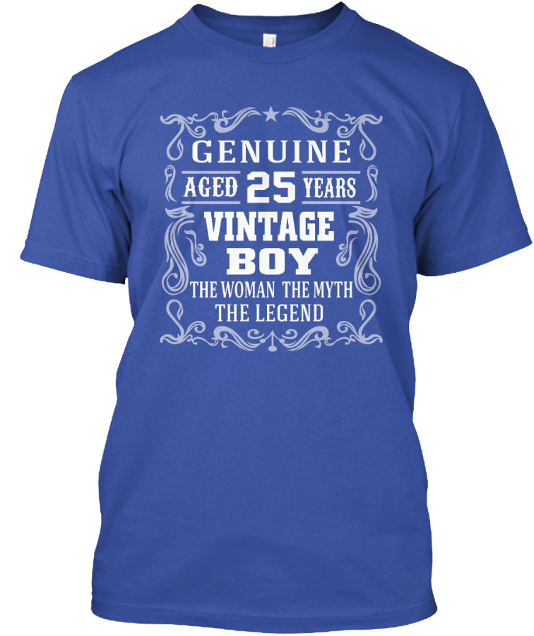 GENUINE AGED 25 YEARS - VINTAGE BOY SHIRT