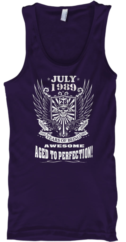 July 1989 - 28 Years Of Being Awesome - Aged To Perfection - 28th Birthday Gift T-Shirt