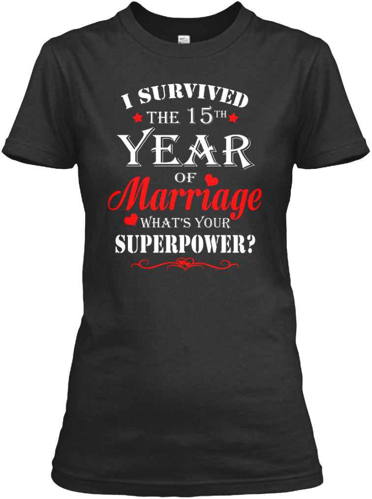 15 Years Wedding Anniversary Gift Shirt