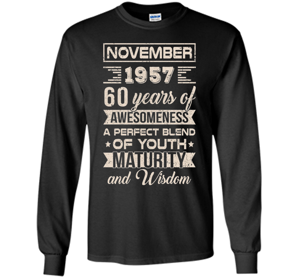 Classic Vintage Limited November 1957 60Th Birthday T-Shirt t-shirt