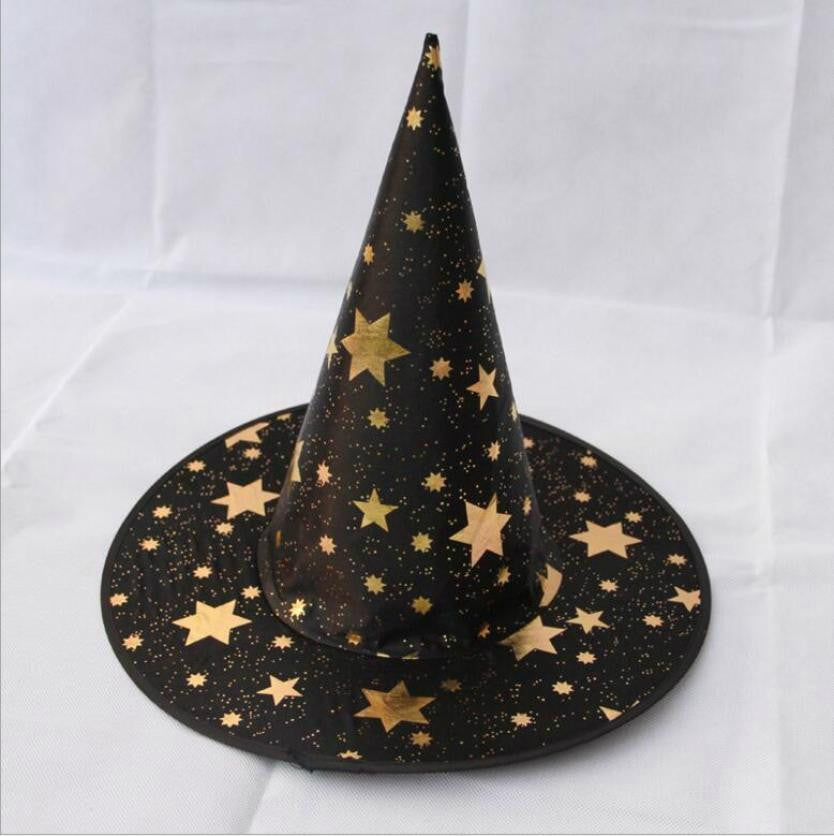 Children Halloween witch hat wizard hat cloak star magician hat KIDS ... f1c24f0f54b9