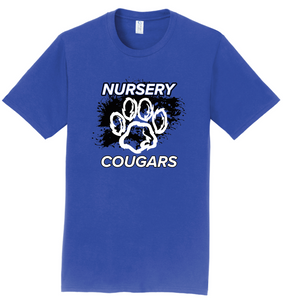 2020 DRYFIT - Nursery Cougars distressed Short Sleeve Spirit T-Shirt