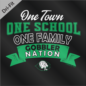 2020 DRYFIT - Cuero Gobbler One Town, One School, One Family Shirt