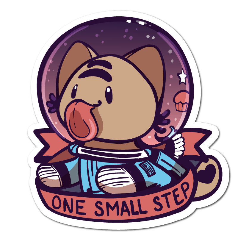One Small Step Vinyl Sticker