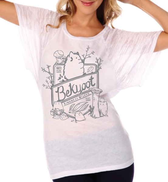 100% Pure BeKyoot Burnout Raglan Top