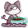 Evil Coffee Hour Vinyl Sticker