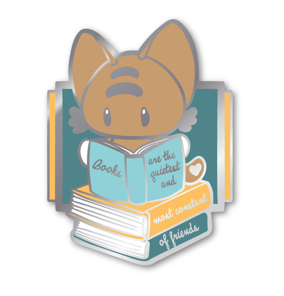 Books are Constant Friends Hard Enamel Pin - PREORDER