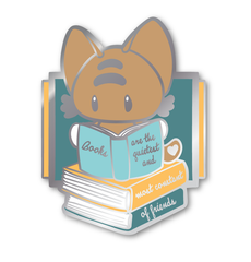 Books are Constant Friends Hard Enamel Pin