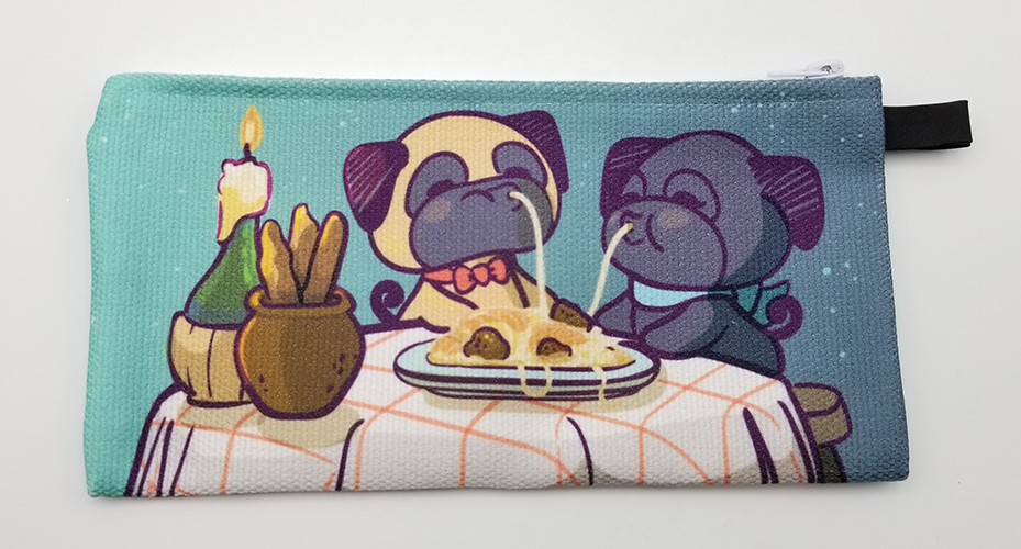 Lady and the Pug Pencil Case