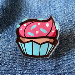 Cupcakes Forever Acrylic Pin