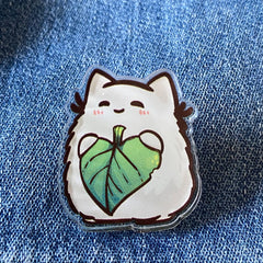 Floof At Heart Acrylic Pin