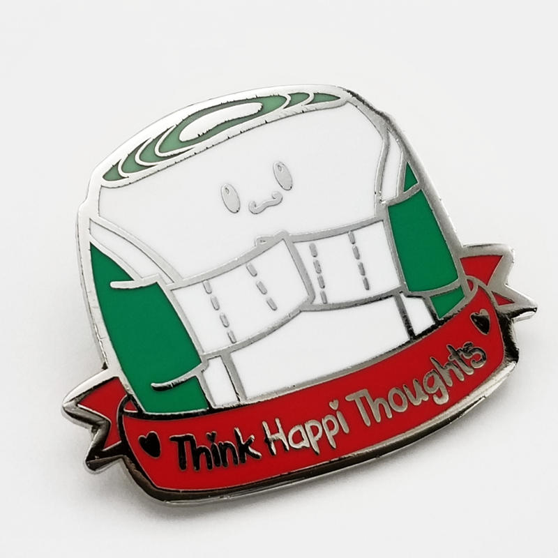 Think Happi Thoughts Hard Enamel Pin