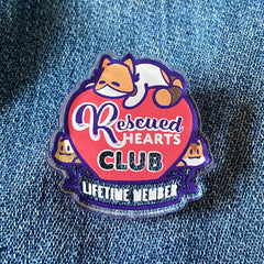Rescued Hearts Club - Cat Edition Acrylic Pin