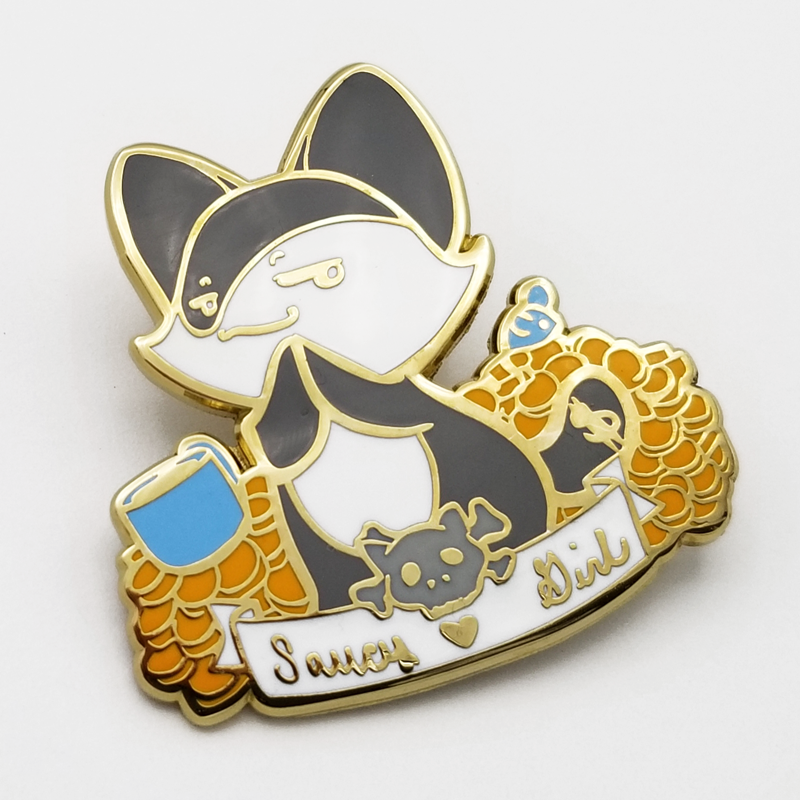 Saucy Girl EL Memorial Hard Enamel Pin
