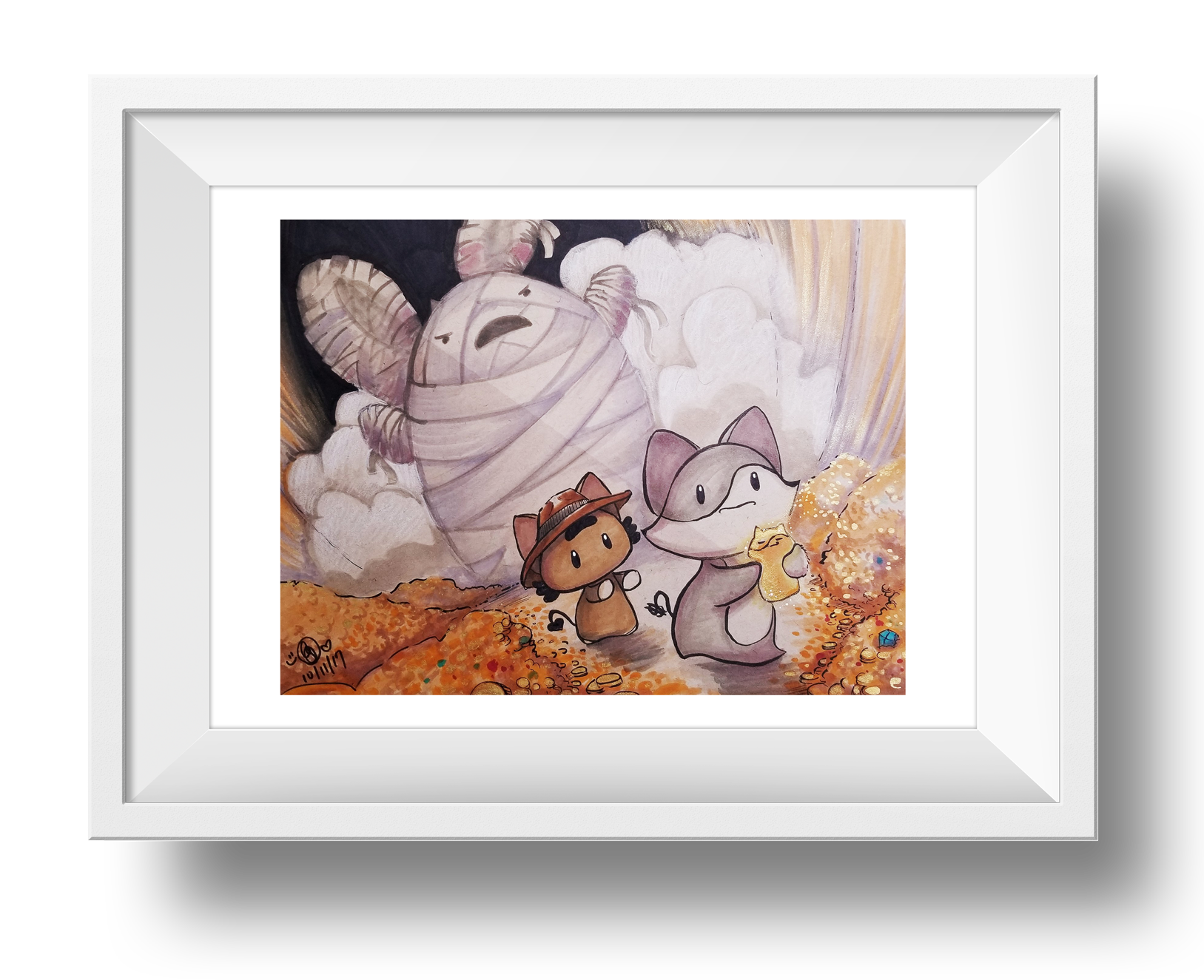 Escape From The Great Bunny Mummy Giclee Art Print