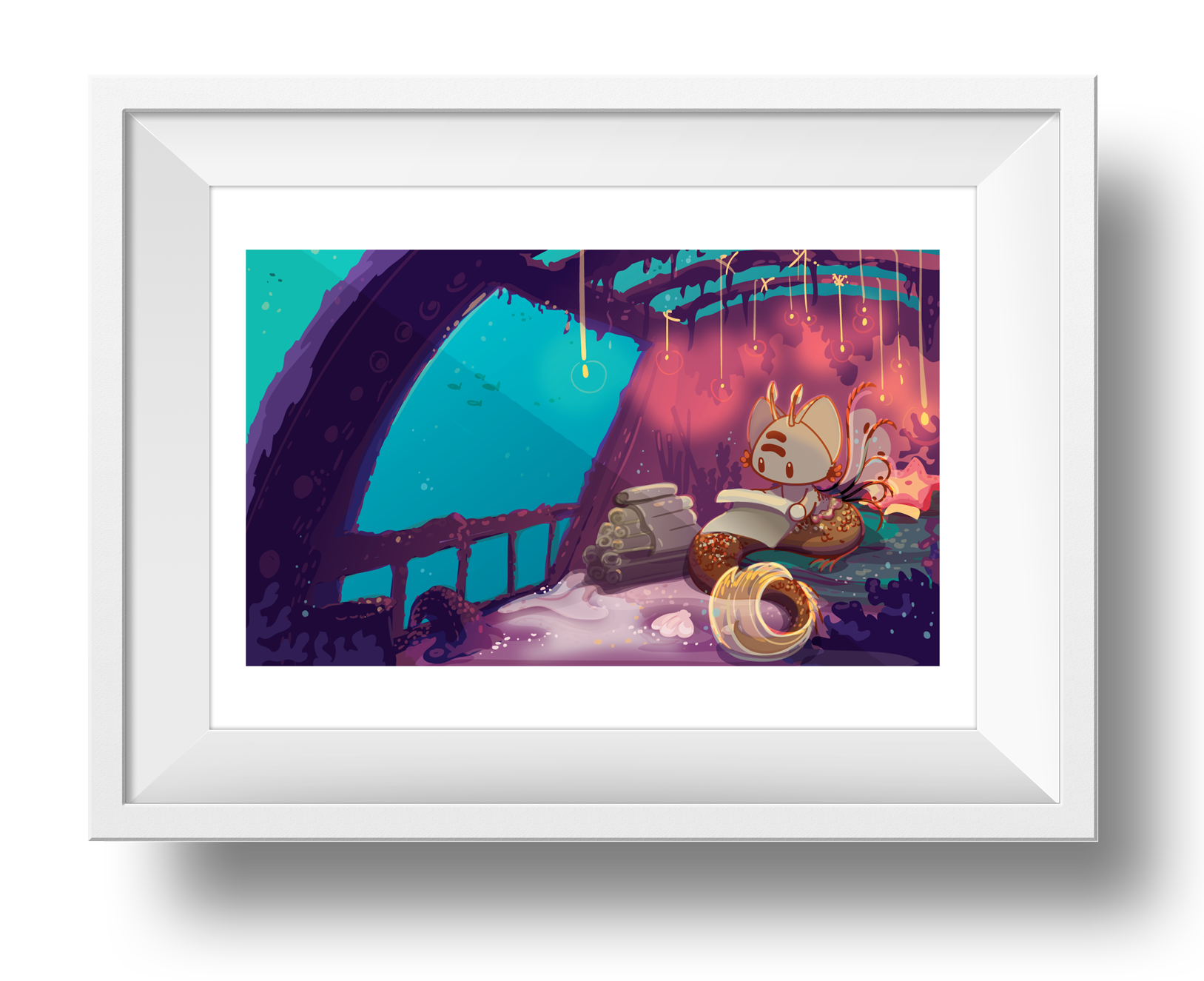 Shipwreck Library Giclee Art Print