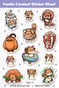 Foodie Coconut Sticker Sheet Volume 1