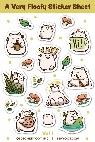 A Very Floofy Sticker Sheet Volume 1