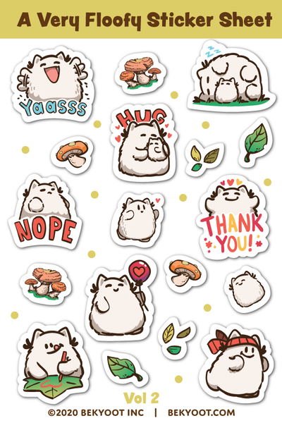 A Very Floofy Sticker Sheet Volume 2