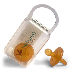 Twin Round Natural Rubber Soother | Dummy in Reusable Case