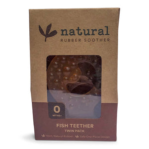 Twin Natural Rubber Teether | Eco Packaging