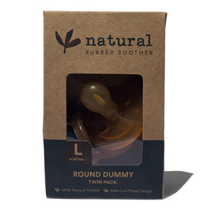 Twin Round Natural Rubber Soother | Eco Packaging