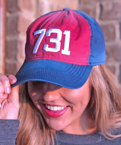 731 Cap - Red/Navy
