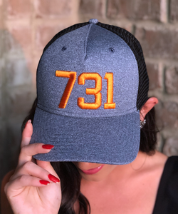 731 Cap - Heather/Orange