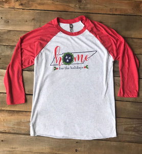 Tennessee Home for the Holidays T-shirt - Red
