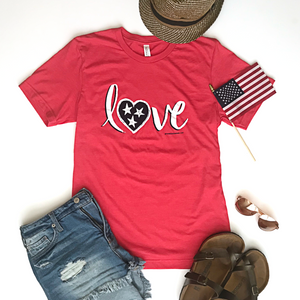 Love T-shirt - Red