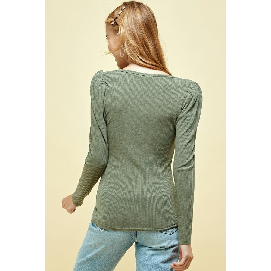 PUFF LONG SLEEVE JERSEY HENLEY | ASSORTED COLORS