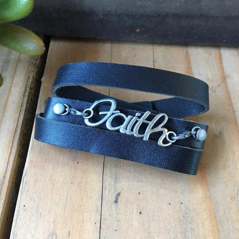 COURAGE LEATHER CUFF